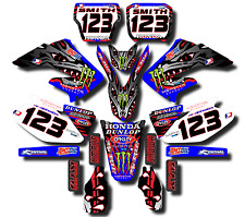 2000-2001 Factory Honda CR125 CR250 Custom Graphics Stickers Decal Kit 7-BL