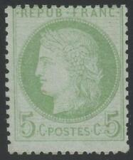 "FRANCE STAMP TIMBRE N° 53 "" CERES 5c VERT-JAUNE S. AZURE 1872"" NEUF xx TB A VOIR"