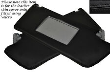 BLACK LEATHER 2X SUN VISORS COVERS FITS VAUXHALL OPEL HOLDEN VECTRA C 02-08