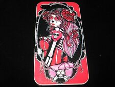 Muertos Sugar Skull Cover Case for iPhone 4 4s New Sugar Skull Lady Case