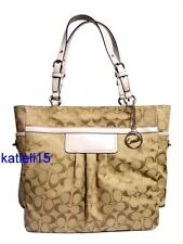 Coach Signature Pleated Large Gallery Tote White 14670 $358