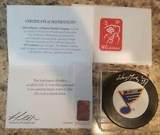 Wayne Gretzky Signed St. Louis Blues Puck WGA UDA Super Rare L@@K