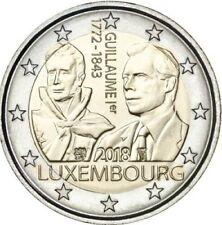 2 euros conmemorativos LUXEMBURGO 2018 -  175 Aniv. Muerte D.Guilermo