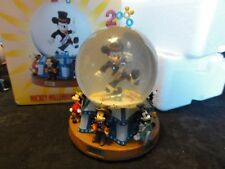 """Disney Mickey Mouse Millennium """" As Time Goes By """" Water Globe - Porcelain - Box"""