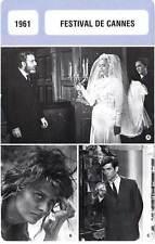 FICHE CINEMA :  FESTIVAL DE CANNES 1961 - Viridiana,Loren,Perkins