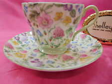 SHELLEY  COUNTRY SIDE  CHINTZ  #13690 FOOTED CUP AND  SAUCER  RICHMOND SHAPE