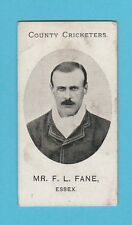 CRICKET - TADDY & CO. - VERY RARE CRICKET CARD -  F.  L.  FANE  OF ESSEX -  1907