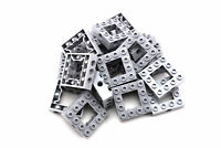 Light Bluish Gray Brick 4 x 4 Open Center - TCM Compatible Bricks - QTY: 25 Pcs