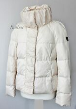 ✔ Husky Damen Daunenjacke Gr.40/42 Herbst/Winter Jacke Cremeweiß A-Form Luxus