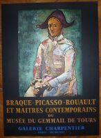 Picasso affiche lithographie 1964 Mourlot Braque Picasso Le Gemmail de Tours