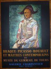Pablo Picasso affiche lithographie 64 Mourlot Braque Picasso Le Gemmail de Tours