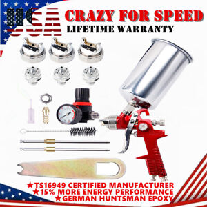 1.4mm 1.7mm 2.5mm Nozzle HVLP Air Feed Spray Gun Kit Car Paint Primer Clearcoat
