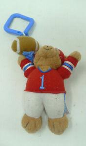 "Vintage Baby Gund Mini 6"" Football Plush Stuffed Toy Stroller Dangler"