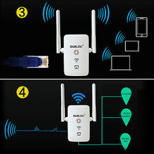 Wi-Fi Range Extender Wireless Network Signal Booster Router Antenna Repeater NEW