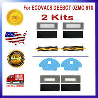 Filters & Bristle Brushes Replacement For ECOVACS DEEBOT OZMO 610 Vacuum Cleaner