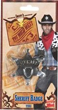 Sheriff insignia accesorio vaquero disfraz plata lejano oeste Película Smiffys