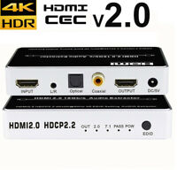 HDMI 2.0 Audio Extractor 5.1 4K 60Hz HDMI to 3.5mm Audio SPDIF Toslink Splitter