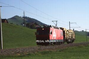 ORIGINAL 35MM OBB SWISS SWITZERLAND RAILWAY SLIDE - 4/4 NO.1 ALBAHN GUNTEN 2003
