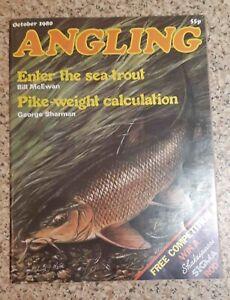 ANGLING FISHING MAGAZINE 10   1980 OCTOBER VGC