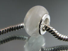 925 STAMPED SILVER CORE MURANO GLASS BEAD FOR EURO STYLE CHARM BRACELETS #DC 302