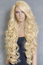 Extra Long Lace Front Wig Full Beautiful Curls Pale Blonde Heat OK WBPR 613