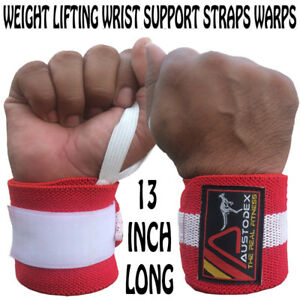 weight lifting wrist support bodybuilding gym training gloves bar wraps straps