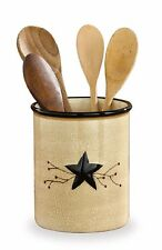 Country Crock Texas Star Rustic Red Berry Vine Western Utility Ceramic Primitiv