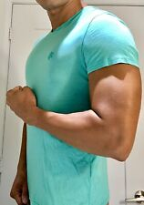 Mens Muscle Fitted Vilebrequin Green Aquamarine Shirt Small NR