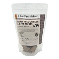 Live Pawsitively Grain Free Chicken & Beef Treats Made in USA,for dogs, 4oz