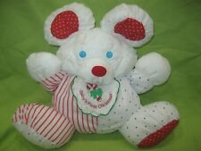 Vintage Fisher Price 1990 Puffalump Mouse Baby's First Christmas Plush #8102