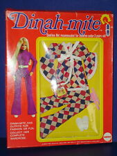 DINAH-MITE Fashion Action Doll MOD Pants Outfit #1423 in Package MEGO 1970s