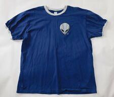 LAS VEGAS 51s Minor League Baseball Blue ALIEN HEAD LOGO Ringer T SHIRT Adult XL