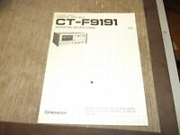 Pioneer CT-F9191 cassette deck owners instructions manual  original