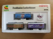More details for marklin ho 84418 - 3 exklusive leckerbissen wagons (used) boxed