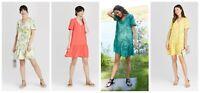 Women's Short Sleeve Ruffle Hem Dress - A New Day - Various Selections - C190