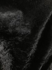 Black Alligator Crocodile Embossed Chenille Velvet Fabric (56 in.) 1 Yard