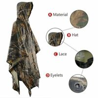 Camouflage Raincoat Rain Poncho Raincoat Hunting Fishing Hiking