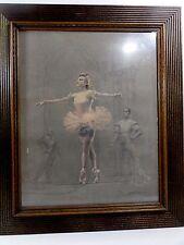 August von Munchausen (Mid Century NY) Pastel on Paper Ballet Danceuse, Signed