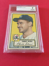 1952 CHARLIE SILVERA TOPPS BVG 7 CARD NO:168 RED BACK NEAR MINT CONDITION