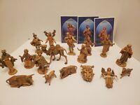 Lot of Fontanini Depose Italy Nativity Animals Shepherds Figures 1980's
