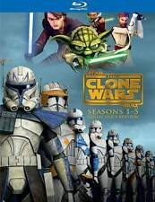 Star Wars: The Clone Wars - The Complete Seasons 1-5 (Blu-ray Disc, 2013, Canad…