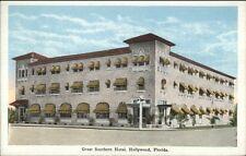 Hollywood FL Great Southern Hotel c1920 Postcard