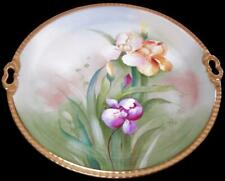 Donath Studio HP Iris Gold Encrusted Art Nouveau Limoges Cake Plate Signed Leroy