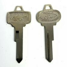 Ignition & Trunk Lock Blank Pony Emblem Blank Keys For 1965-1966 Ford Mustang