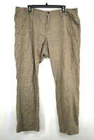 Cato Womens Brown Houndstooth Slash Pocket Straight Leg Cotton Career Pants 18W