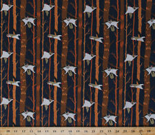 Ramble & Roost Flying Squirrels Light Navy Cotton Fabric Print by Yard D757.08