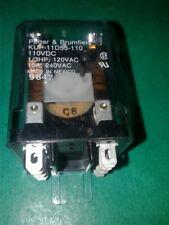 KUP-11D55-110  8 pins Potter & Brumfield 110V coil transparent NOS