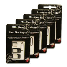 Nano Micro Sim Card Adapter Micro Convert Set for mobile smart phone x 5 sets