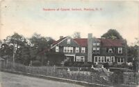 D82/ Manlius New York NY Postcard 1909 Residence of Colonel Verbeck Home