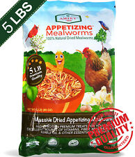 """< 00004000 span class=""""newly"""">New listing 5 Lb Dried Mealworms High Protein Bulk Food For Chicken,Bird,Turtle,Fish, Duck"""